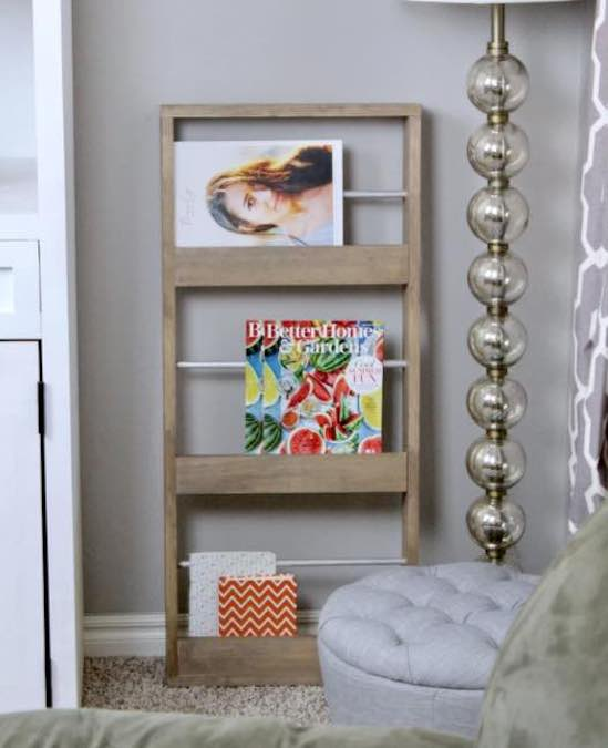 Learn how to build this Easy Magazine Rack with free plans.