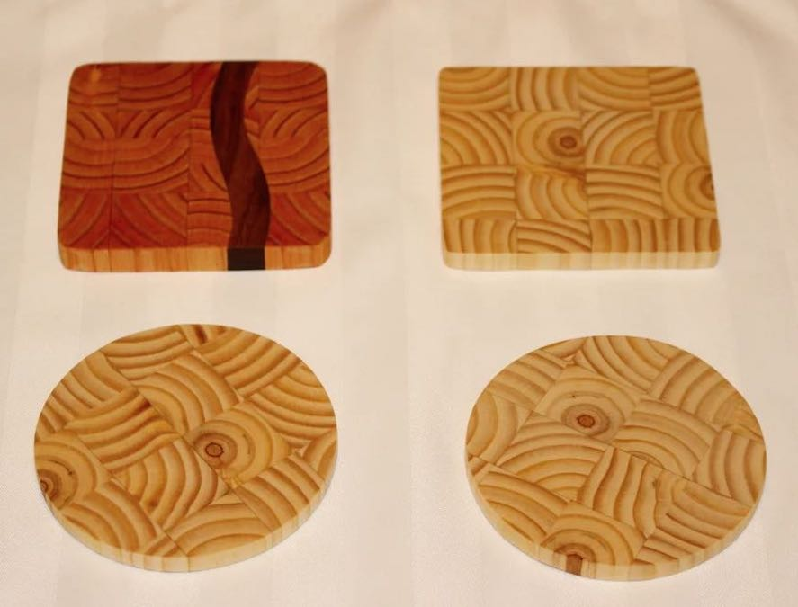 Free plans to build End Grain Coasters.