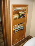 free woodworking plans,projects,patterns,magazine racks,recessed magazine rack