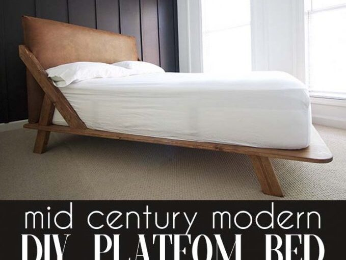 Free plan to build a full size Platform Bed.
