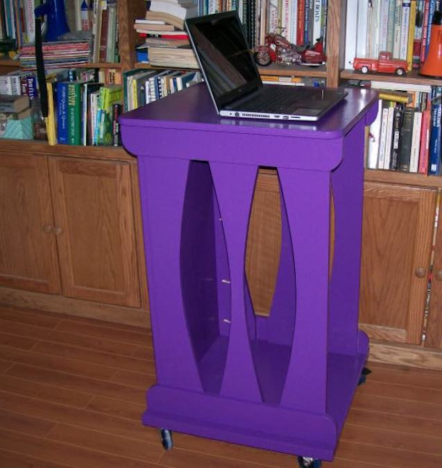 Build a Stand Up Desk On Wheels and free plans.