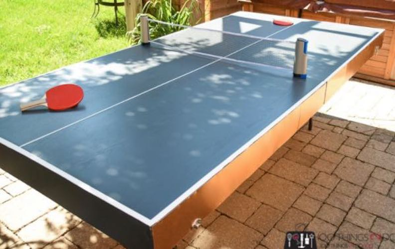 Build a Folding Ping Pong Table using free plans.