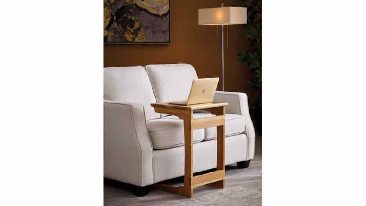 C table,sofa stand,laptop table,furniture,side table,accent table,diy,free woodworking plans,free projects,do it yourself