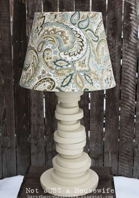 Build a Lamp from Scrap Wood using free plans.