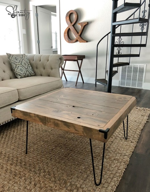 Free plans to build a coffee table.
