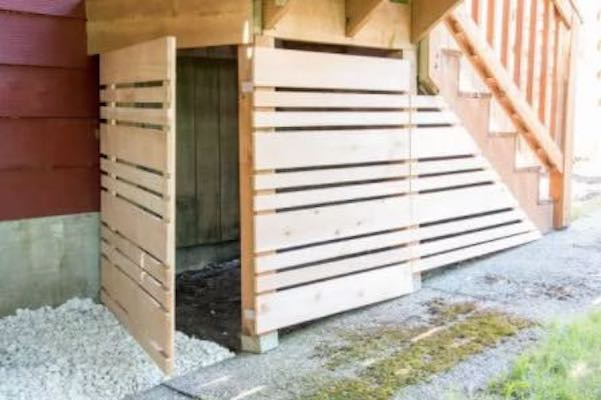 Build Under Deck Storage Panels using free plans.