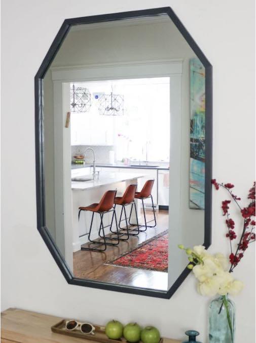 Build a Modern Octagonal Mirror using free plans.