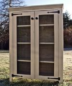 cupboards,cabinets,free woodworking plans,jelly cupboard,primitive,chicken wire,projects,do it yourself,woodworkers