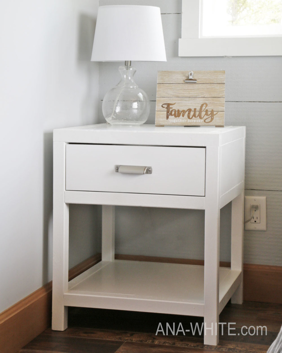 nightstands,bedside tables,night stands,furniture,diy,free woodworking plans,free projects,do it yourself