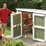 lockers,sheds,outdoors,free woodworking plans,projects,garden sheds,small,do it yourself,woodworkers