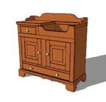 dry sinks,cabinets,sketchup,Google 3D,3-D warehouse,storage,furniture,drawings,free woodworking plans,projects,do it yourself,woodworkers