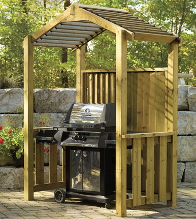 How to build a BBQ Grill shelter.