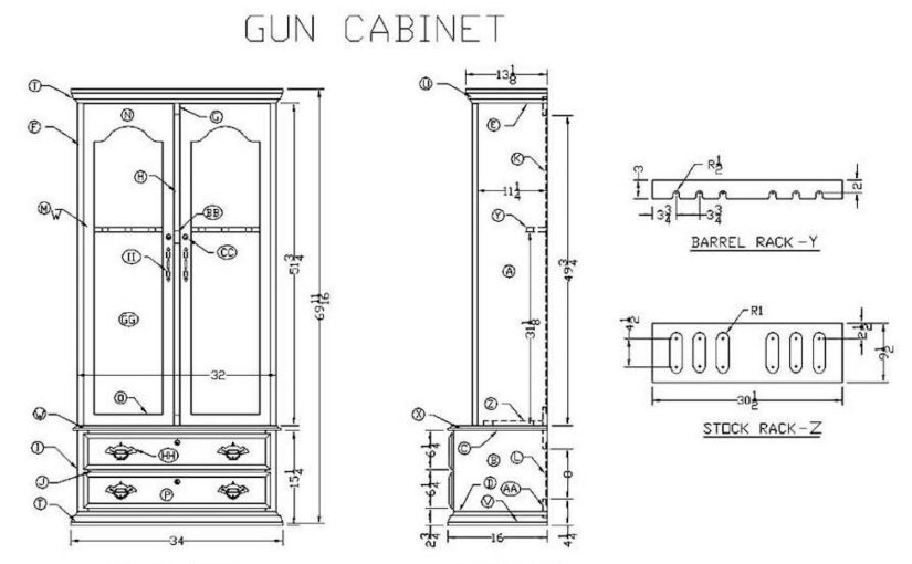 Learn How to Build a Wooden Gun Cabinet.