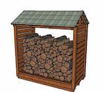 firewood shelters,firewood sheds,diy,free woodworking plans,free projects,do it yourself