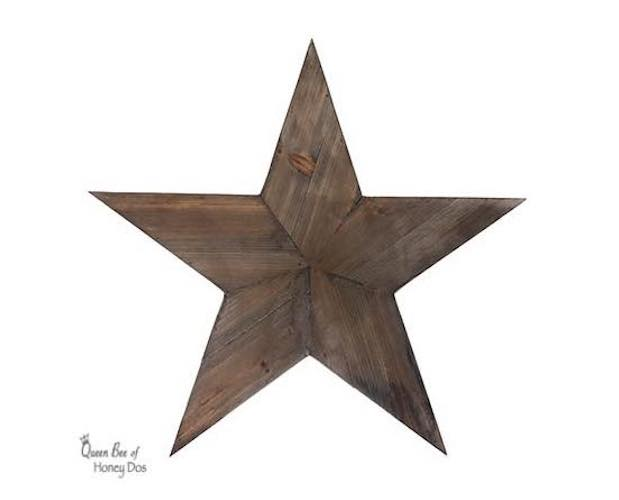 Free plans to build a Wooden Star.