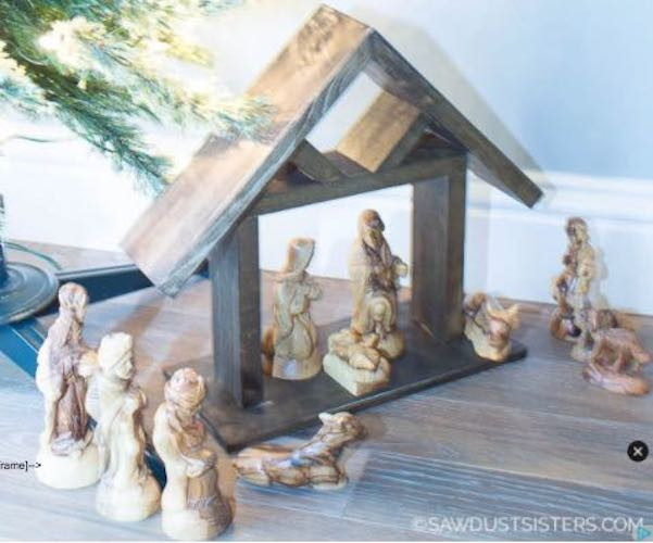 Build a Nativity Manger From Scrap Wood using free plans.