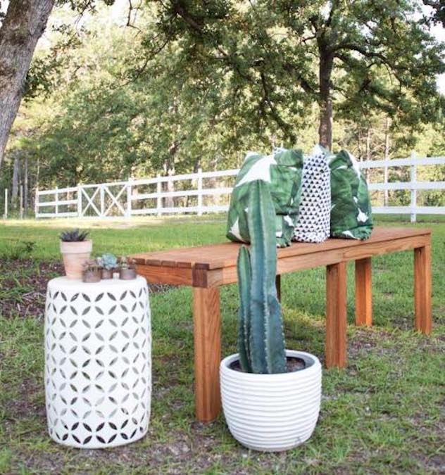 Build a Bench for Outdoors.