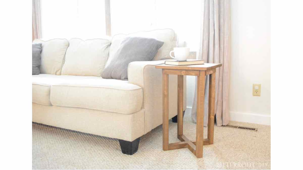 end tables,furniture,X base,diy,free woodworking plans,free projects,do it yourself