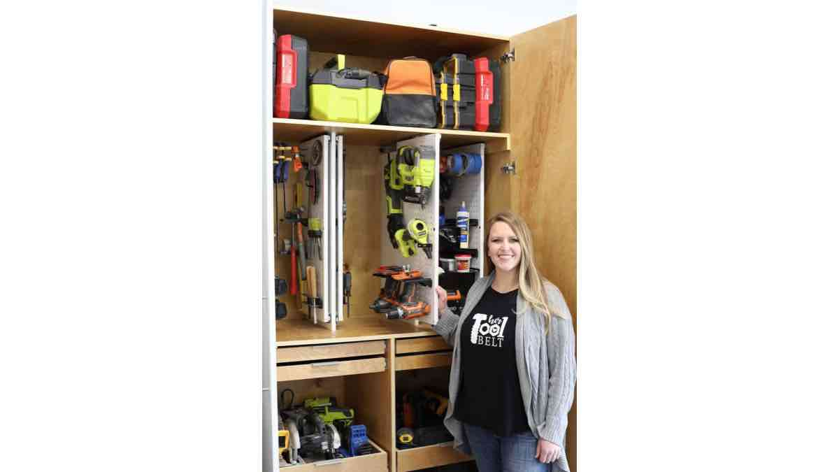 Find out how to get organized with this Hand Tool Storage Cabinet.