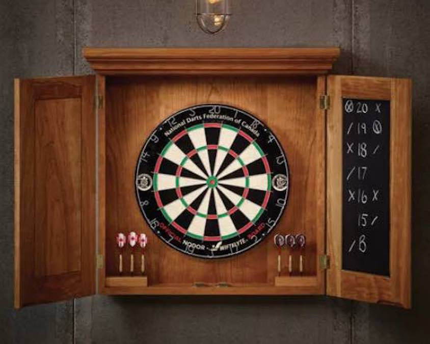 Free plans to build a Dartboard Cabinet.
