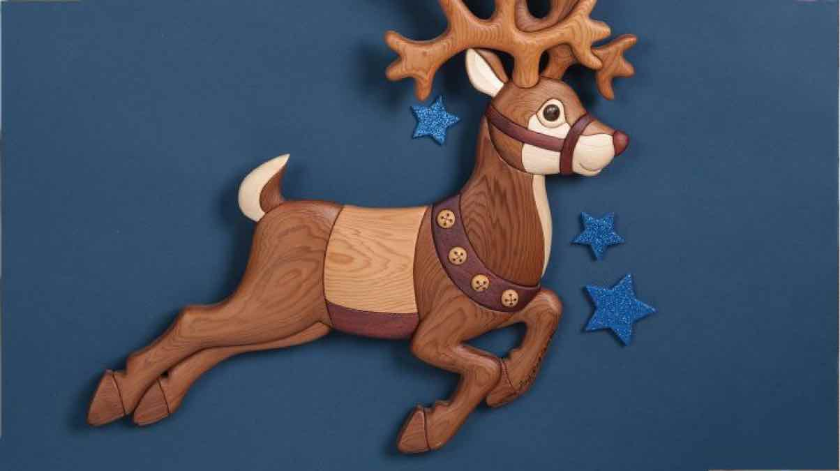 intarsia,scroll saw,reindeers,Christmas,scrollsaws,diy,free woodworking plans,free projects,do it yourself