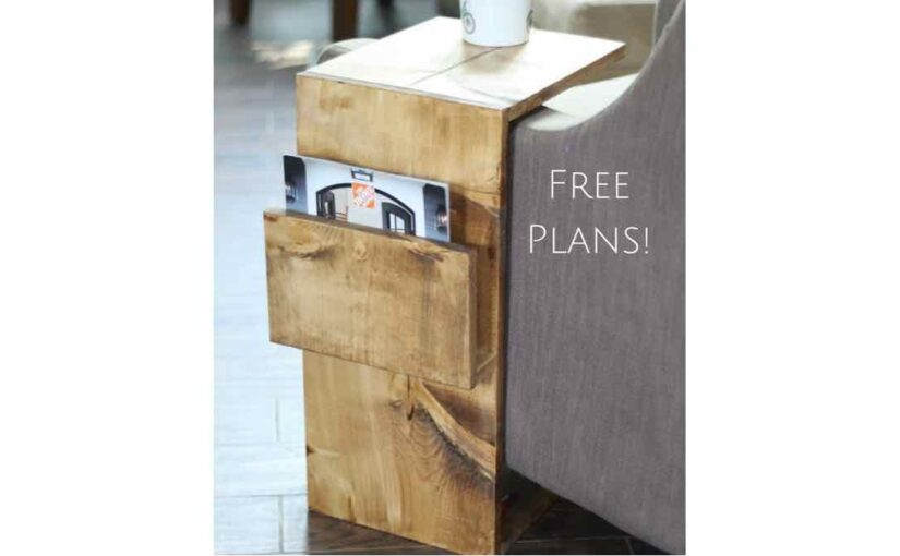 Side Table with Magazine Storage