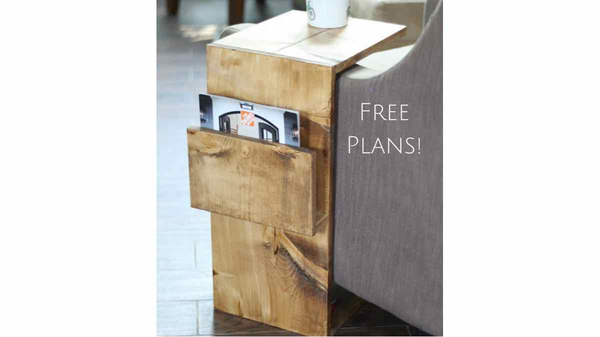 laptop table,laptop desk,C table,side table,magazine racks,diy,free woodworking plans,free projects,do it yourself