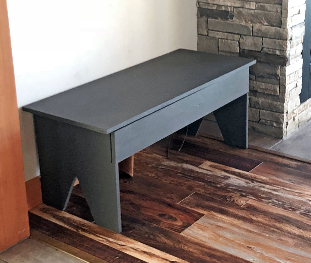 Free plans to build a Bench with Hidden Boot Storage.