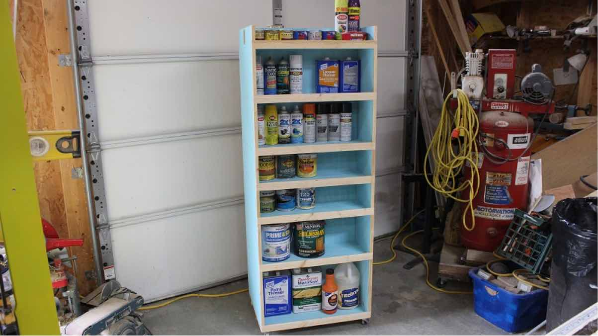 workshop carts,mobile carts,paint cabinet,diy,free woodworking plans,free projects,do it yourself