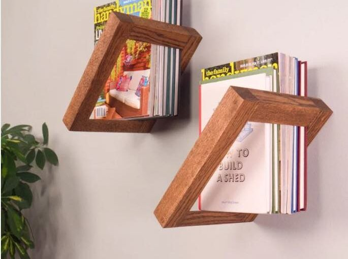 Build fun Floating Bookshelves using free plans.