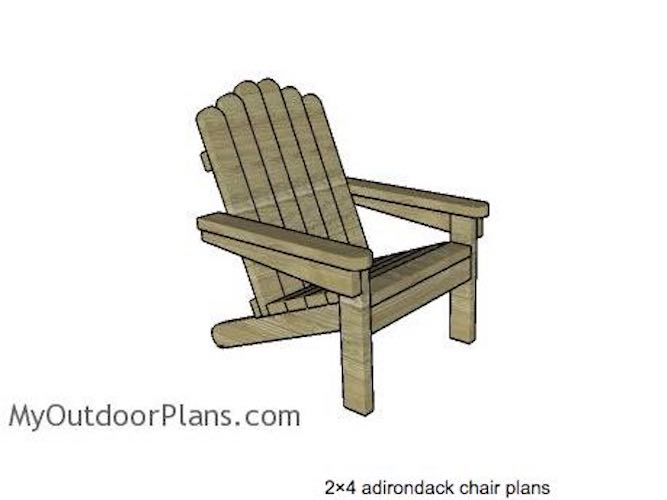 Build 2 x 4 Adirondack Chairs using free plans.