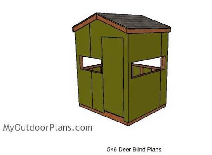 Free plans to build a Deer Blind 5 x 6 Foot.