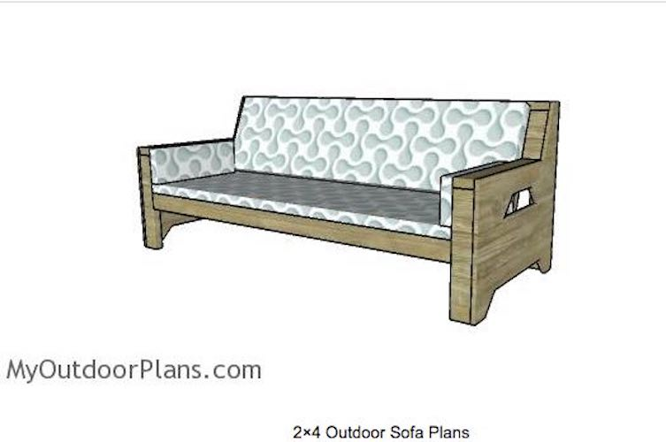 Free plans to build a Sturdy Outdoor Sofa.