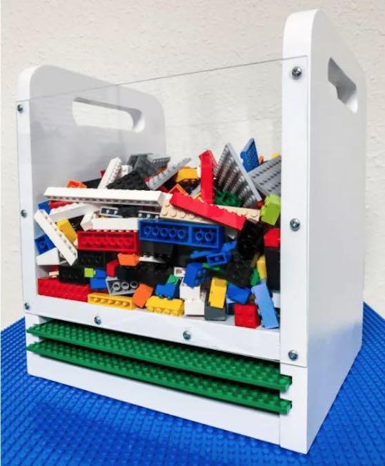 Free plans to make a Lego Bin.
