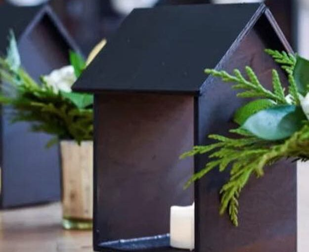 House Shaped Candle Holders