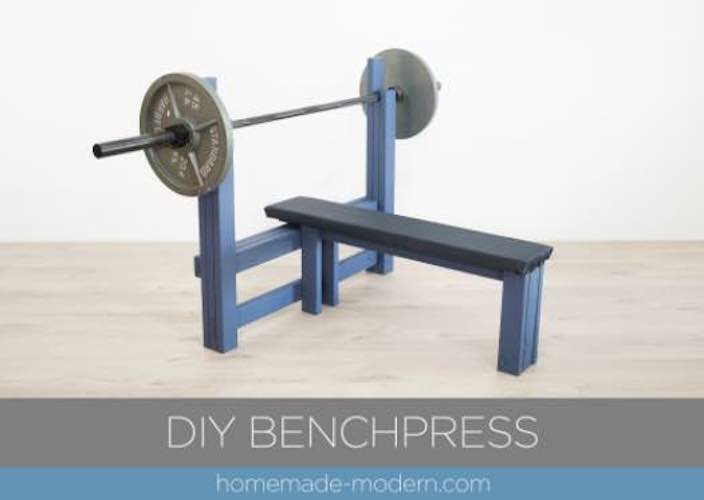 Free plans to build a Benchpress.