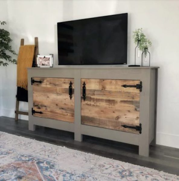 Build a Double Door Slim Console using free plans.