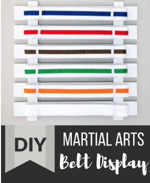 Free plans to build a Martial Arts Belt Display.