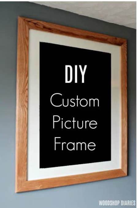 Build a Picture Frame With Mitered Corners using free plans.