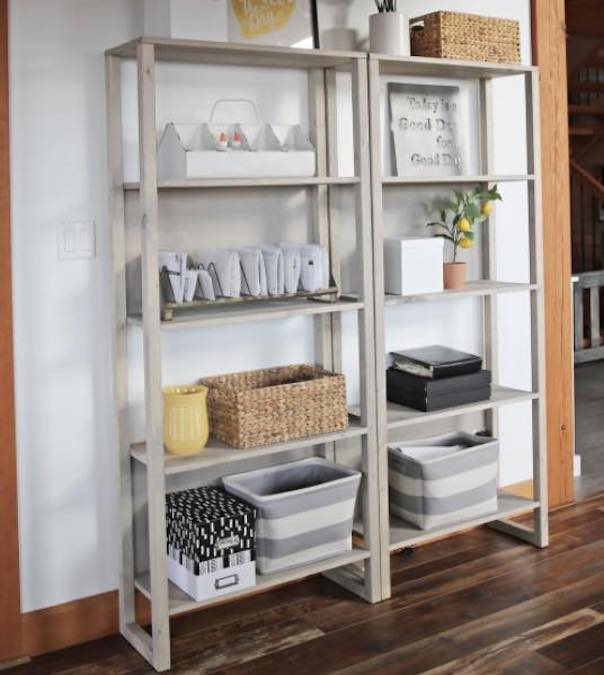 Build an Industrial Bookshelf with free plans.