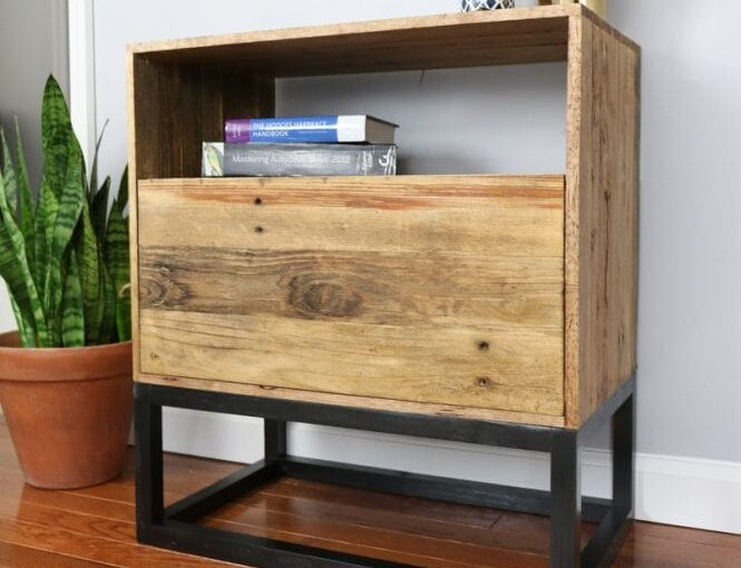 Nightstand from Reclaimed Wood