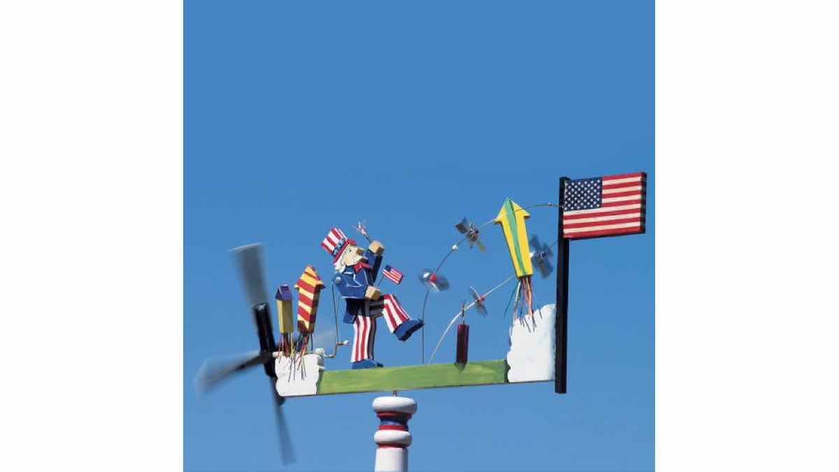 How to make a Patriotic USA whirligig