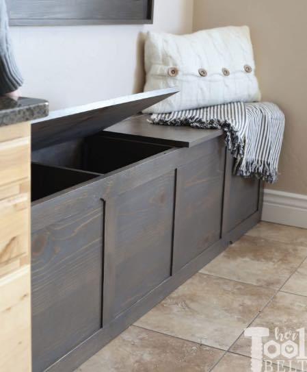 Build a Hinge Top Storage Bench.
