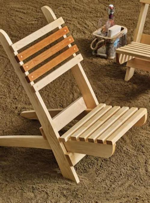 Free plans to build a Portable Beach Chair.