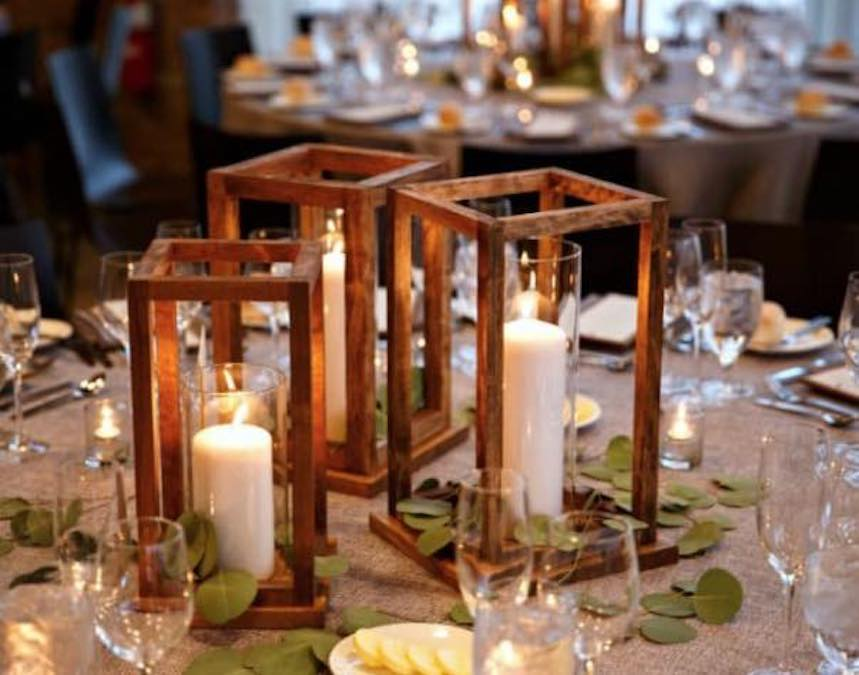 Free plans to build Lantern Centerpieces.