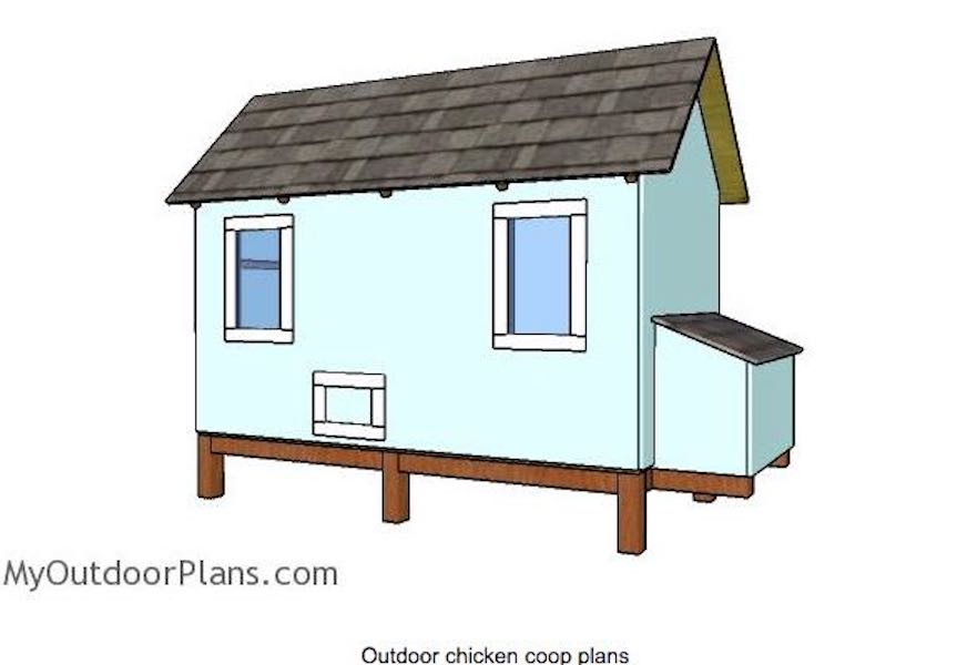 Build a Backyard Chicken Coop using free plans.