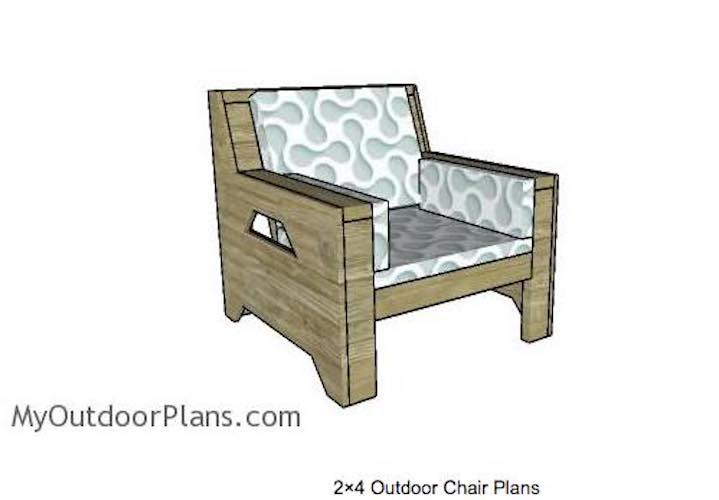 Outdoor Chair Using 2 x 4s