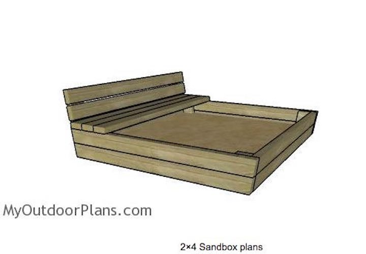 Build a Sandbox from 2 x 4s using free plans.