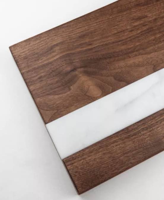 Build a Cutting Board with Marble Inlay using free plans.