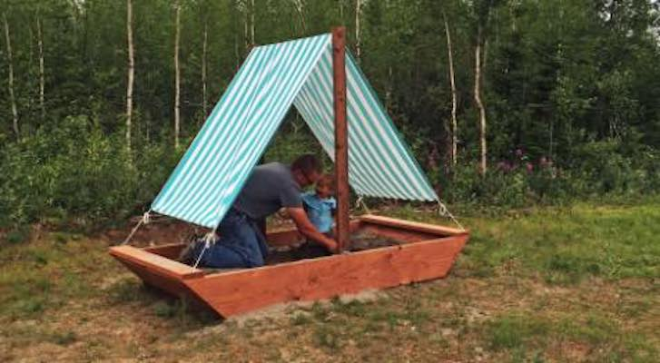 Free plans to build a Boat Sandpit.